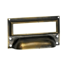 Etiketgreep 75x45mm oud brons