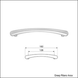 Greep Rilano Anox 160mm (128mm)