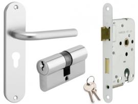 Cilinderslot met deurkrukset aluminium Berto