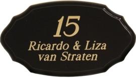 Houten naambord 25 x 14 cm 8103
