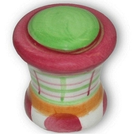 Knop Edda: 29 mm gekleurd porselein