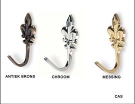 Haak Cas ,34mm antiek brons,chroom,messing