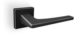 Deurkrukset Convex®  1495-S19 vierkant rozet mat zwart massief