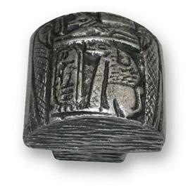 Knop Amon: 36mm  antiek zilver