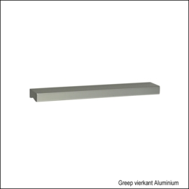 Greep vierkant Aluminium 128mm