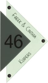 Gravoglas naambord 16,5x28 cm 4102