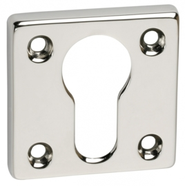 Cilinderplaatje nikkel vierkant