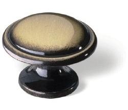 Knop Quirine: 29 mm brons