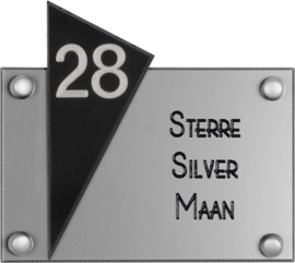 Perspex naambord 15x13 cm 5004