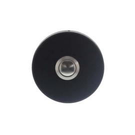 Beldrukker rond verdekt RVS/mat zwart