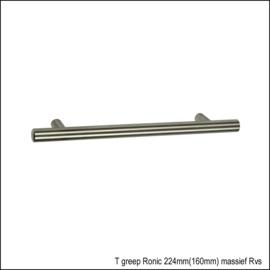 T greep Ronic 224 mm(160mm) massief RVS