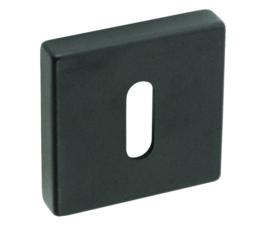 Sleutelplaatje convex vierkant  mat zwart