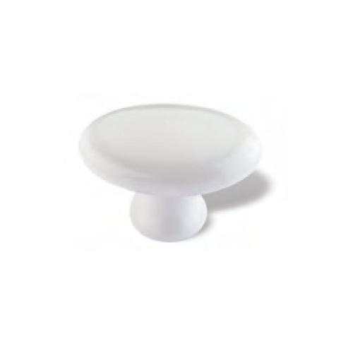 Knop Florentien: 55 mm wit porselein (vanaf  5 stuks)