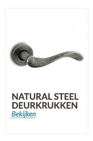 Convex® deurkrukken en deurklinken Naturel steel