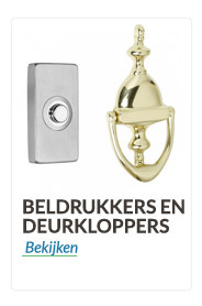 Beldrukkers en Deurklopers rvs,messing