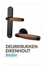 Deurkrukken en Deurklinken mat zwart ebbenhout/eikenhout
