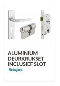 deurkrukset en klinken  Aluminium met slot