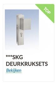 skg deurkruksets in uitvoering rvs,zwart en aluminium