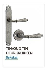 Deurkrukken en Deurklinken  tin /oud tin