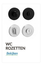 wc rozetten en wc garnituur in verschillende uitvoering
