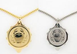 S.O.S. talisman sterrenbeeld hanger double of staal Kreeft