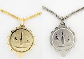 S.O.S. talisman sterrenbeeld hanger double of staal weegschaal