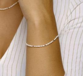 Armband parel 2,5 mm 16,5 + 2 cm