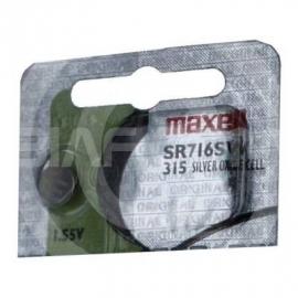 Maxell 315  SR716SW 315 SR62 SR716 Silver Oxide Watch Battery