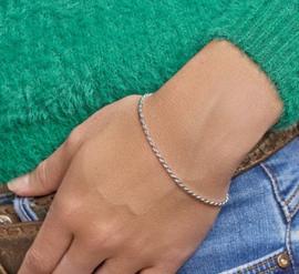 Armband koord gediamanteerd 2,0 mm
