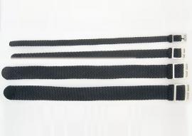 Losse S.O.S. Zwart, Wit, Rood, Blauw, Grijs Perlon/nylon horlogebanden 8 t/m 20