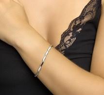Armband poli/mat 4,3 mm 19 cm