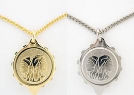 S.O.S. talisman sterrenbeeld hanger double of staal Tweeling