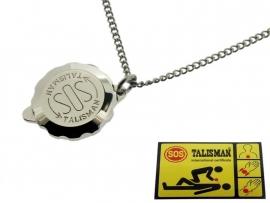S.O.S. talisman hanger Staal met ketting