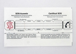 Losse SOS alarmpasjes