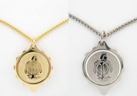 S.O.S. talisman sterrenbeeld hanger double of staal Waterman