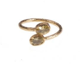 Ring Nefertiti Citrine Handmade