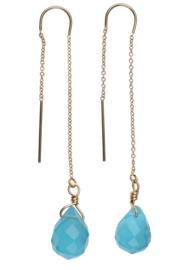 Chain Earring Turqoise sea