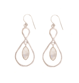 EARRING MOONSTONE Silver