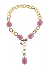 Necklace Bahiti pink
