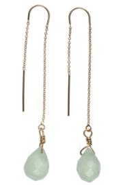 Chain Earring Lovely green Uitverkocht