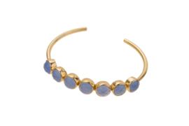Bangle 7x Blue Chalcedony