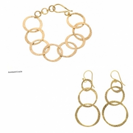 Armband Leyla en Goldplated earrings