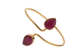 Adjustable Bangle Ruby Red