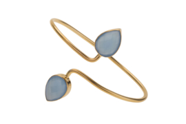 Adjustable Bangle Blue Chalcedony