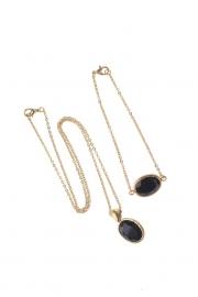 MYBLY Set Necklace &Bracelet Black Onyx