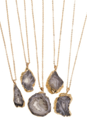 Black Slice Agate pendant