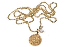Budha medaillon  gold