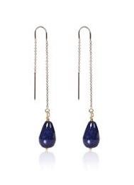 Chain Earring Blue jade