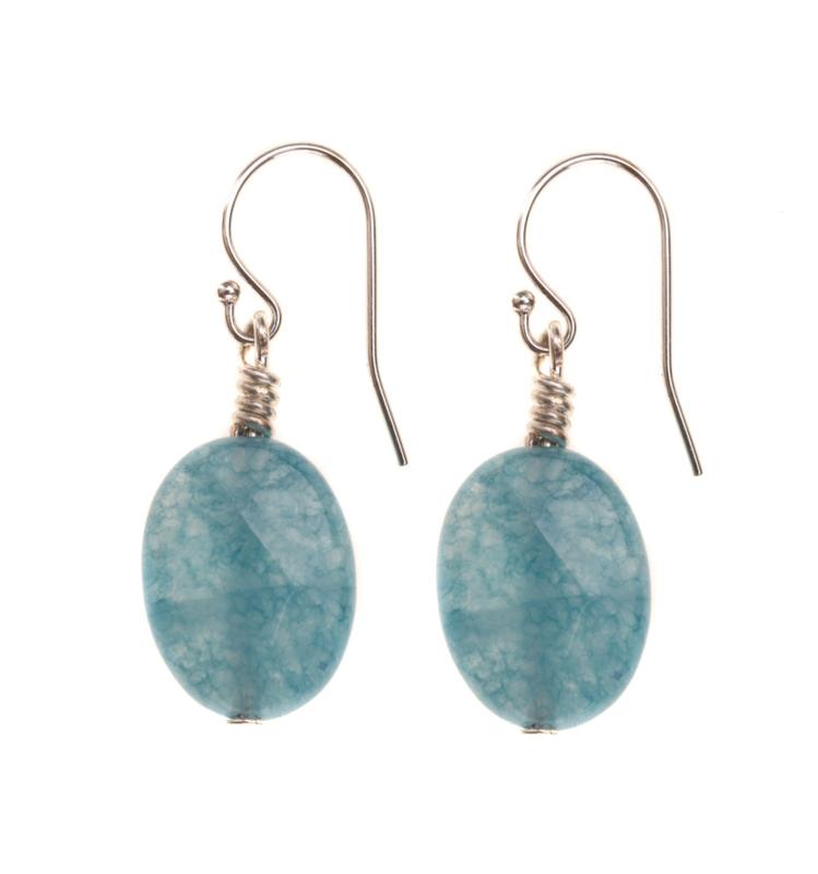 Blue Sponge  Earring  Silver