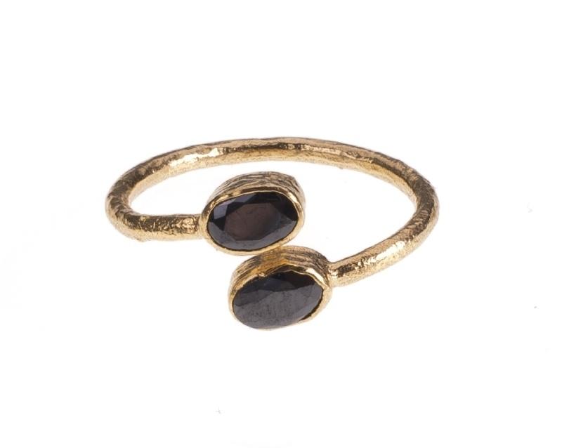 Ring Nefertiti Onyx handmade